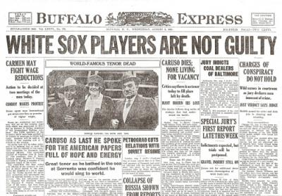 essays on the black sox scandal The 1919 black sox scandal in 1919, eight of the chicago white sox allegedly threw the world series charles comiskey was the ruthless owner of the white.